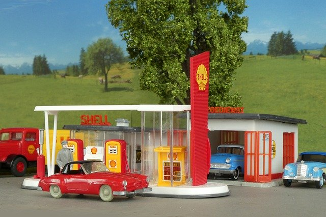 Tankstelle Gas Kraftstoff Benzin Diesel